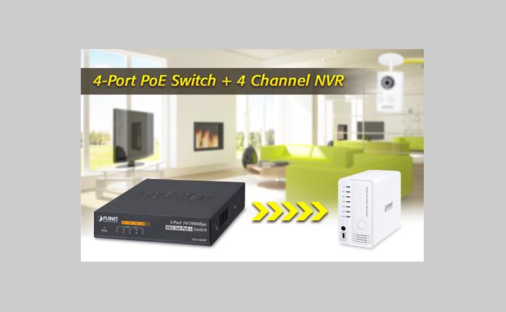 New FSD-504HP Desktop 4 Port Ethernet Switch from Versa Technology ...