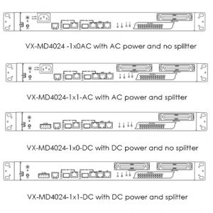 VX-MD4024 VDSL2 IP DSLAM Versions