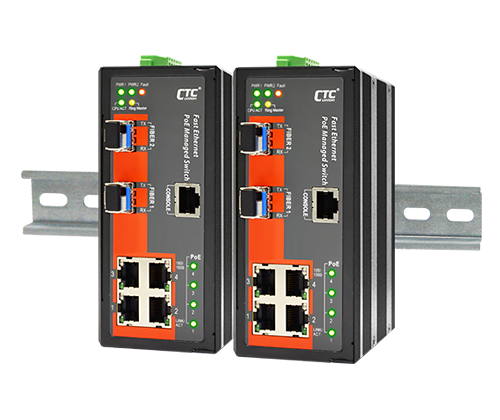 IFS-402GSM-4PHE24 Industrial PoE Switch