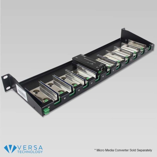 VX-R10 Micro Media Converter Rack with Converter