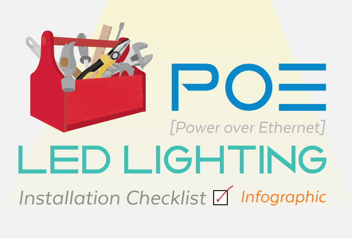 PoE LED Lighting Installation Checklist Infographic