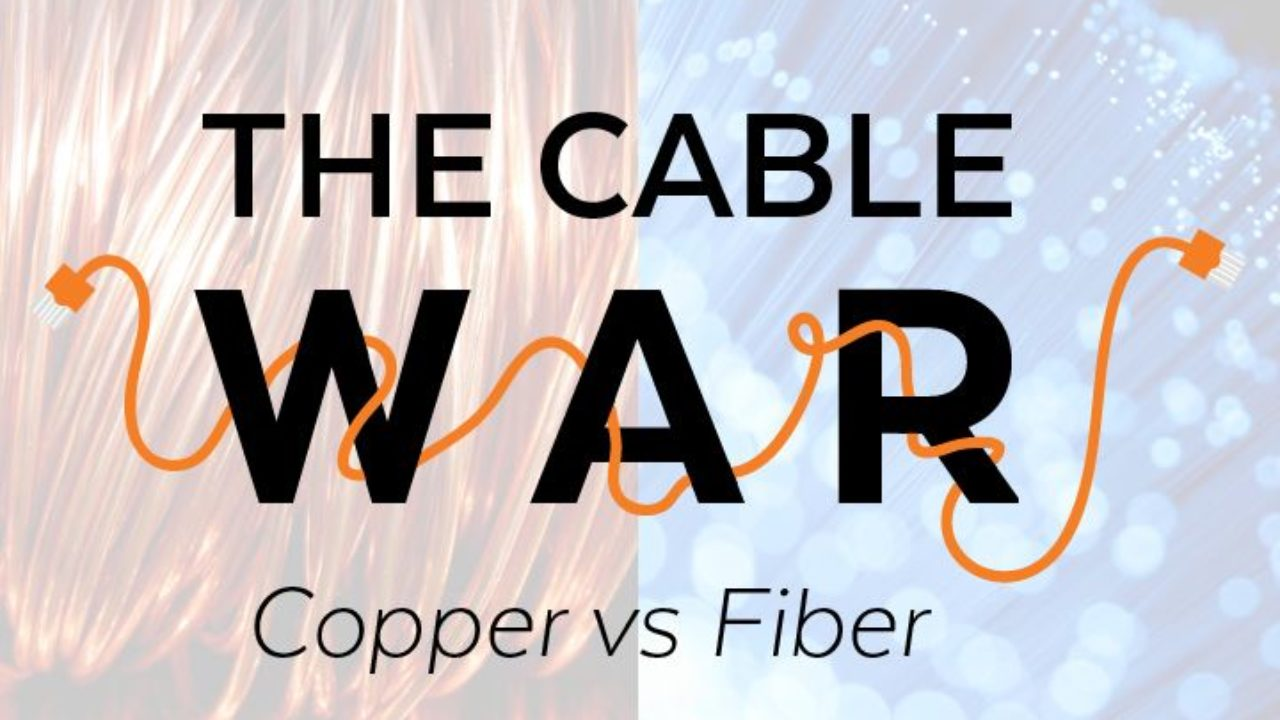 Diagram Representing Parts Of Coaxial Cable And Optical Fiber Cable