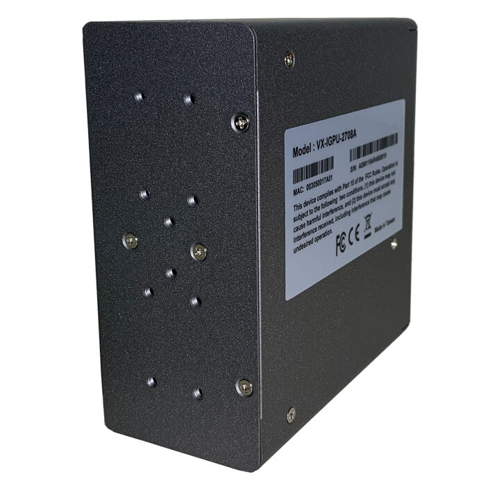 VX-IGPU-2708A Industrial PoE Switch Back