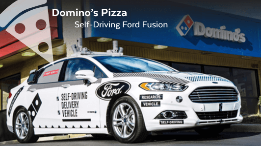 Domino's Pizza Self Driving Delivery Car