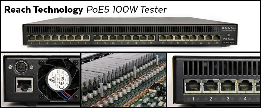 Reach Technology PoE5 100W Tester