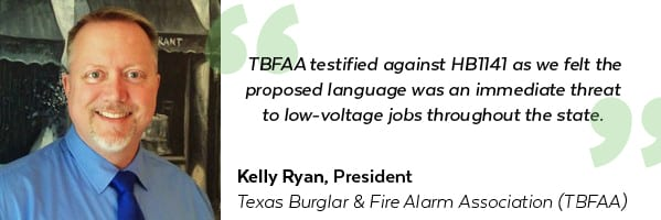 Kelly Ryan, Texas Burglar & Fire Alarm Association