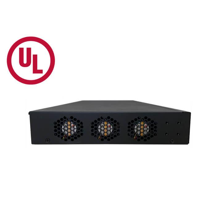 VX-GPU2610-9 UL PoE Switch Side 1